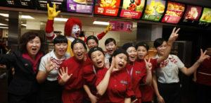 Starbucks McDonald's china